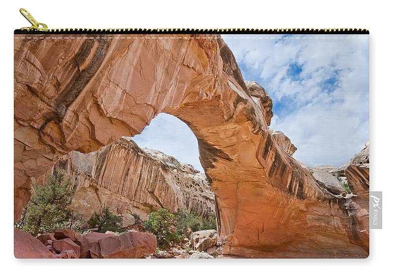 Arch Carry-all Pouch featuring the photograph Hickman Bridge Natural Arch by Jeff Goulden