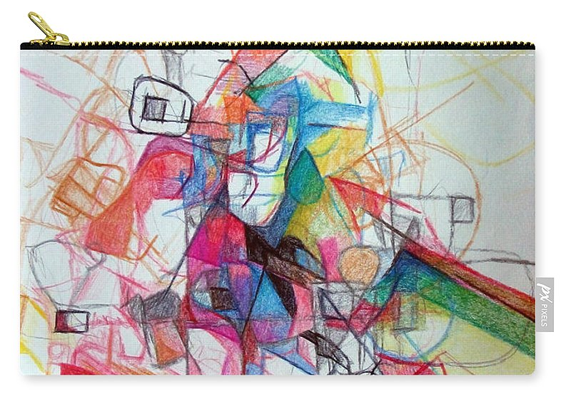 Torah Carry-all Pouch featuring the drawing Hidden In The Earth 1 by David Baruch Wolk