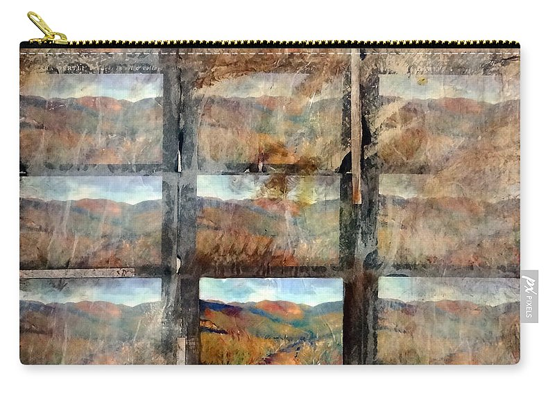 Landscape Carry-all Pouch featuring the mixed media Hidden Valley by Barbara Oertli