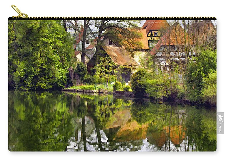 Village Carry-all Pouch featuring the photograph Hidden Village by Sharon Foster