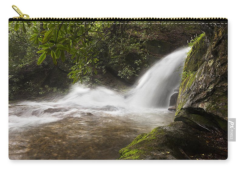 Appalachia Carry-all Pouch featuring the photograph Hidden Waterfall by Debra and Dave Vanderlaan