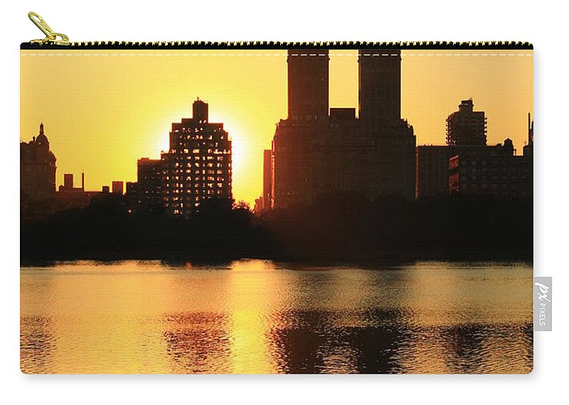 Central Park Carry-all Pouch featuring the photograph Hide And Peek by Catie Canetti