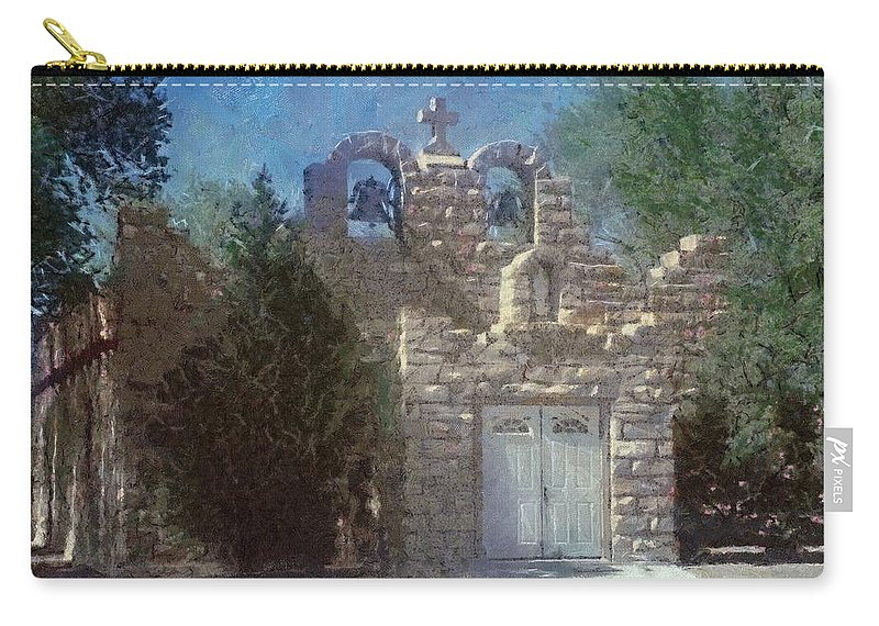 Architecture Carry-all Pouch featuring the painting High Desert Church by Jeffrey Kolker