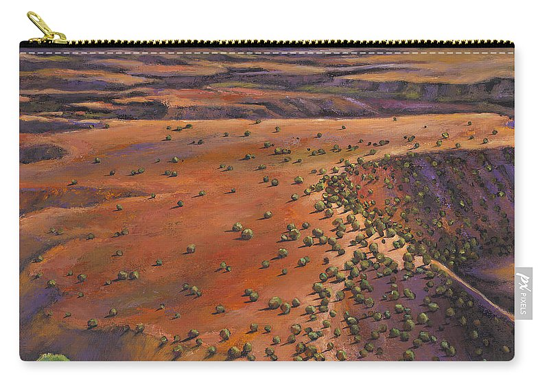 New Mexico Carry-all Pouch featuring the painting High Desert Evening by Johnathan Harris