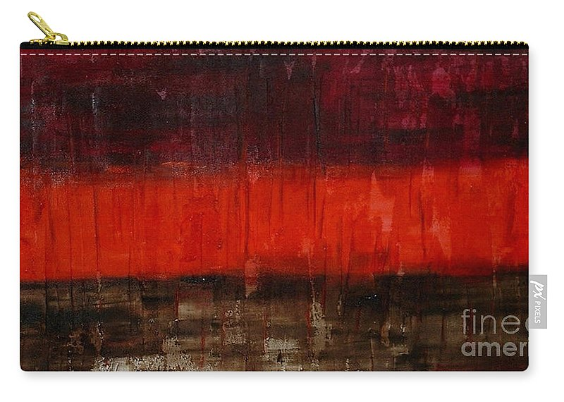 Abstract Carry-all Pouch featuring the painting High Energy by Silvana Abel