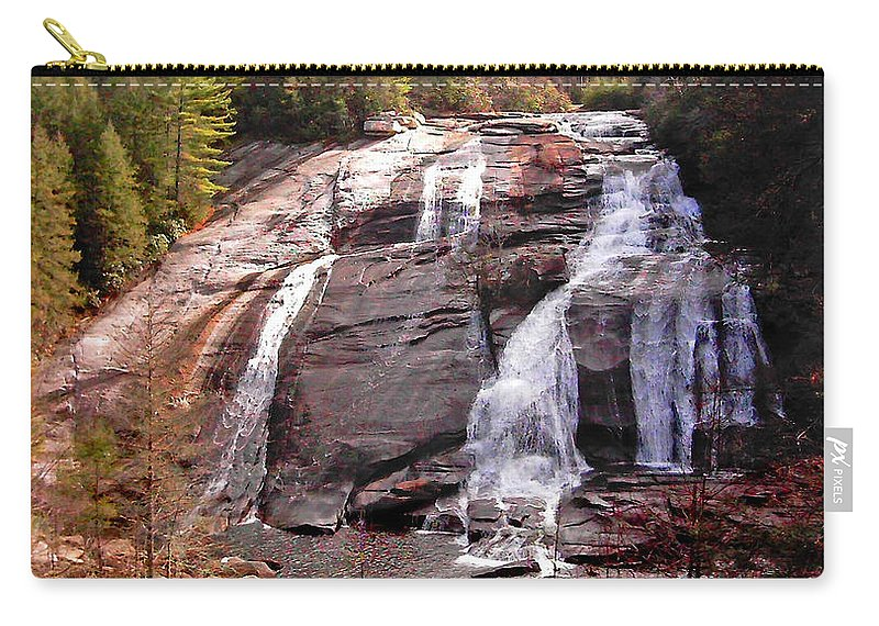 Waterfalls Carry-all Pouch featuring the photograph High Falls by Duane McCullough