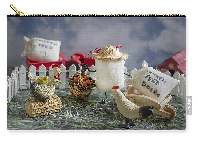 Chickens Carry-all Pouch featuring the photograph High Fructose Farming by Heather Applegate