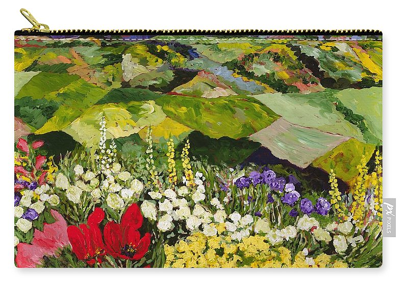 Landscape Carry-all Pouch featuring the painting High Mountain Patch by Allan P Friedlander