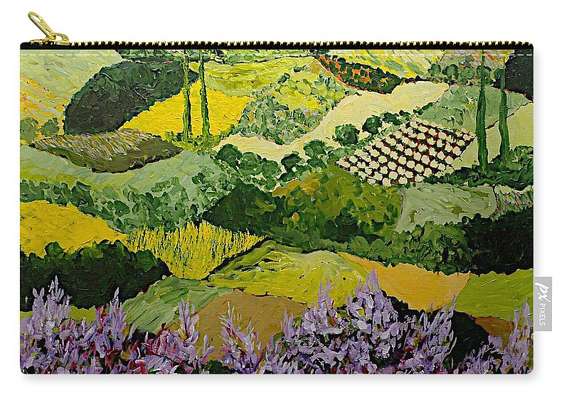 Landscape Carry-all Pouch featuring the painting High Ridge by Allan P Friedlander