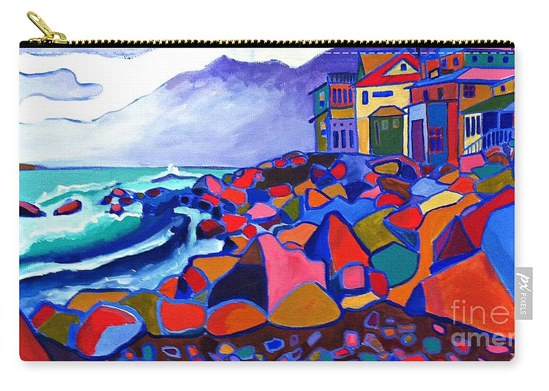 Landscape Carry-all Pouch featuring the painting High Tide Boars Head NH by Debra Bretton Robinson