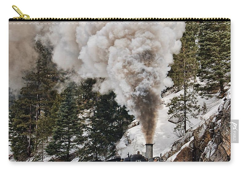 Steam Train Carry-all Pouch featuring the photograph Highball Through Cascade Canyon by Ken Smith