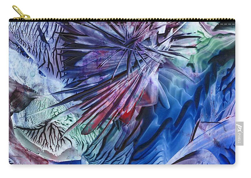Encaustics Carry-all Pouch featuring the painting Higher Soul by Cristina Handrabur
