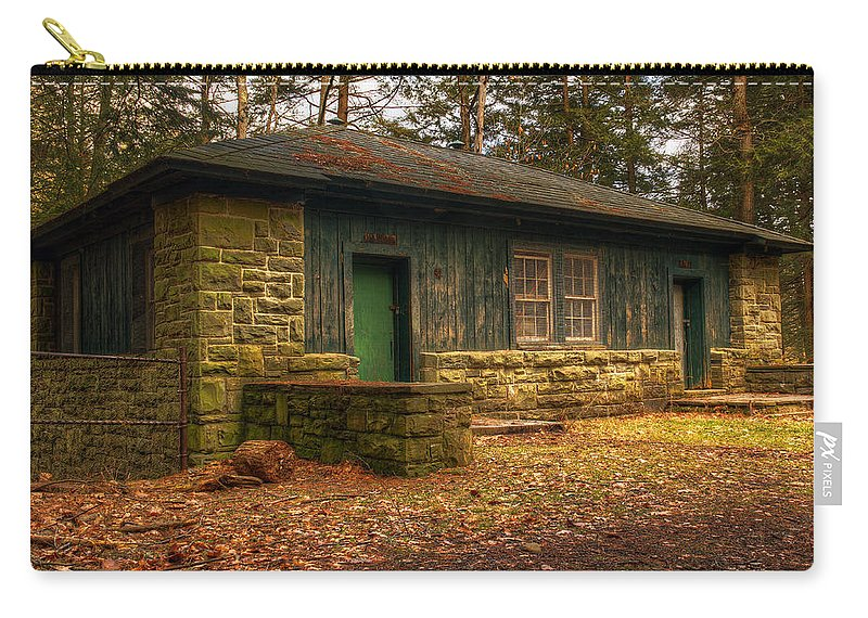 Hiker Carry-all Pouch featuring the photograph Hiker's Rest by Tim Buisman