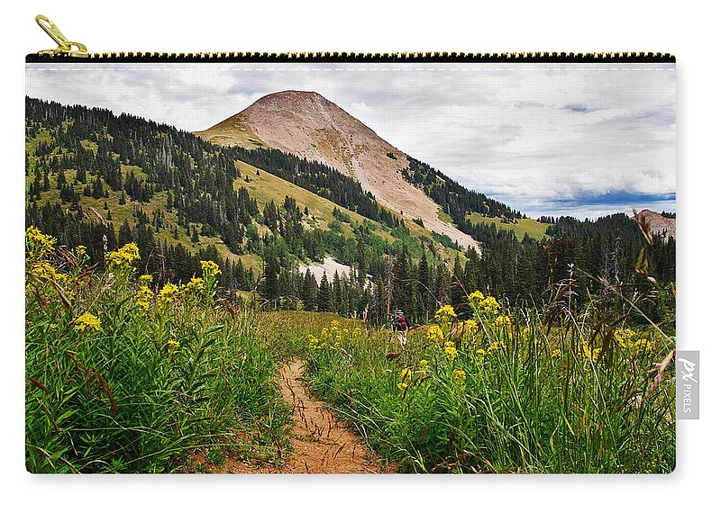 3scape Carry-all Pouch featuring the photograph Hiking In La Sal by Adam Romanowicz