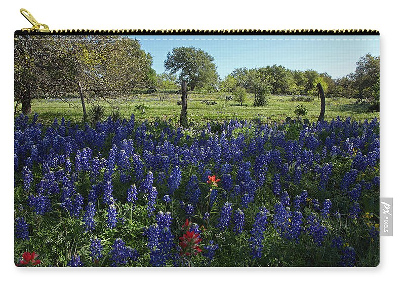 Carry-all Pouch featuring the photograph Hill Country Roadside by Susan Rovira