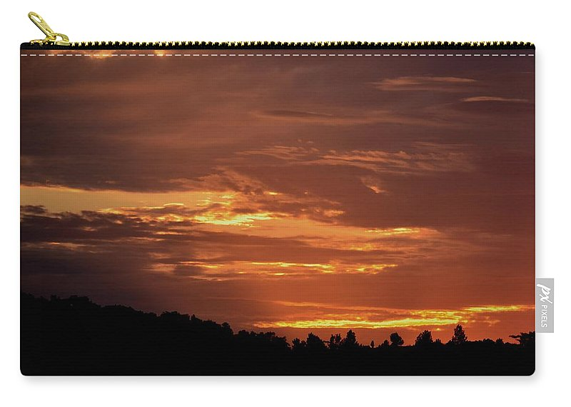 Hill Country Sunrise Carry-all Pouch featuring the photograph Hill Country Sunrise by Maria Urso