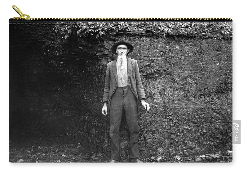 1890 Carry-all Pouch featuring the photograph Hillbilly, C1900 by Granger
