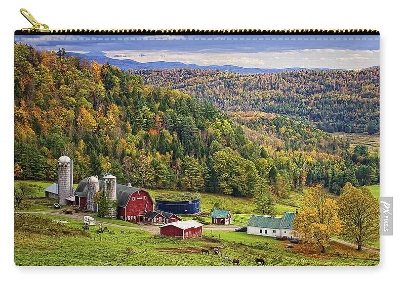 Hillside Acres Farm Carry-all Pouch featuring the photograph Hillside Acres Farm by Priscilla Burgers