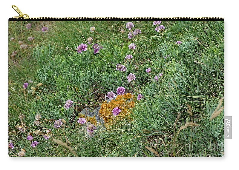 Wildflowers Carry-all Pouch featuring the photograph Hillside Of Wildflowers by Nancy L Marshall
