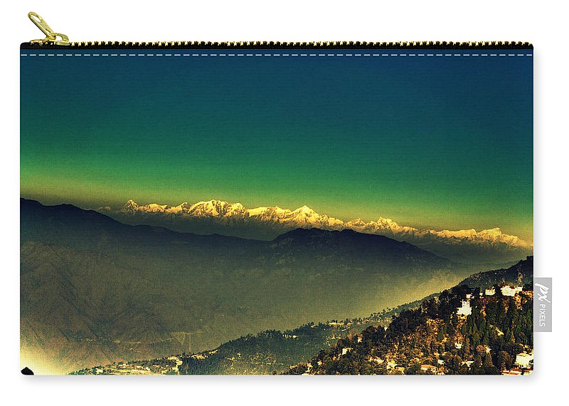 Wallpaper Buy Art Print Phone Case T-shirt Beautiful Duvet Case Pillow Tote Bags Shower Curtain Greeting Cards Mobile Phone Apple Android Nature Ruins Haunted Old House Abandoned Radha Bhavan Mussoorie Mansion Palace Fort Mountain Hill Top Ghost Salman Ravish Khan Carry-all Pouch featuring the photograph Himalayas by Salman Ravish