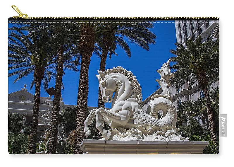 Nevada Carry-all Pouch featuring the photograph Hippocampus At Caesars Palace by Angus Hooper Iii