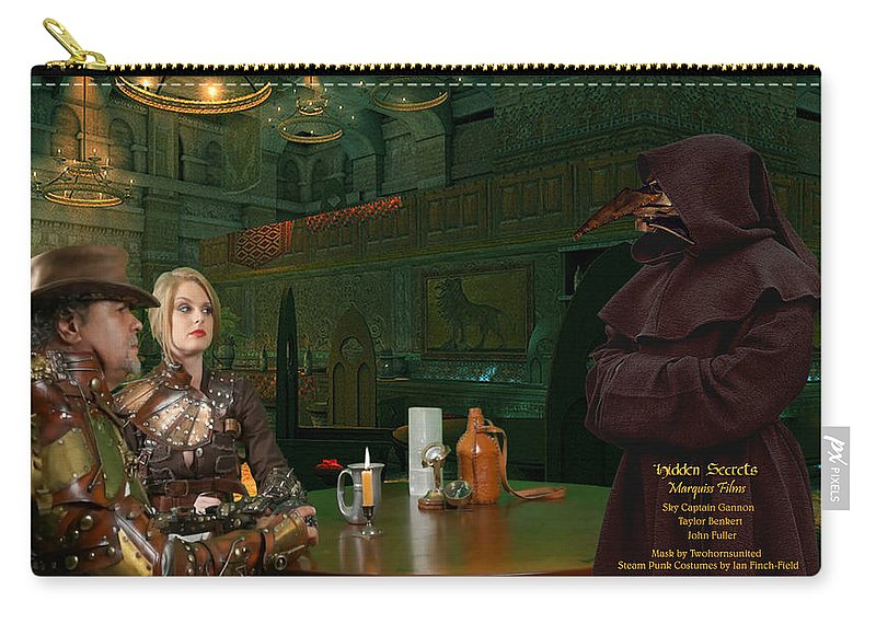 Science Fiction Carry-all Pouch featuring the digital art Hiring Leach by Robert Marquiss