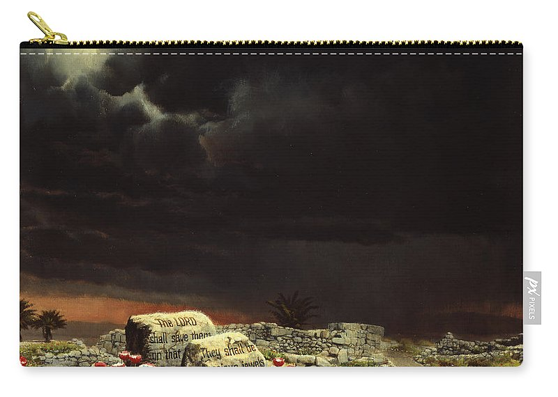 Jewels Carry-all Pouch featuring the painting His Jewels by Graham Braddock