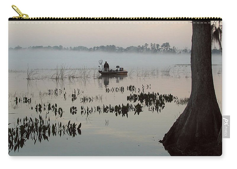 Landscape Carry-all Pouch featuring the photograph His Time by Peg Urban