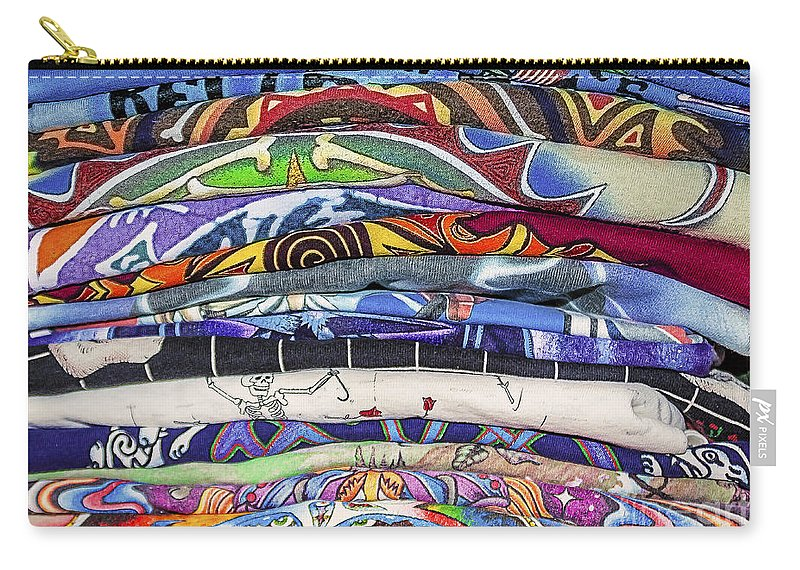 Shirt Carry-all Pouch featuring the photograph His Tshirt Collection by Janice Pariza