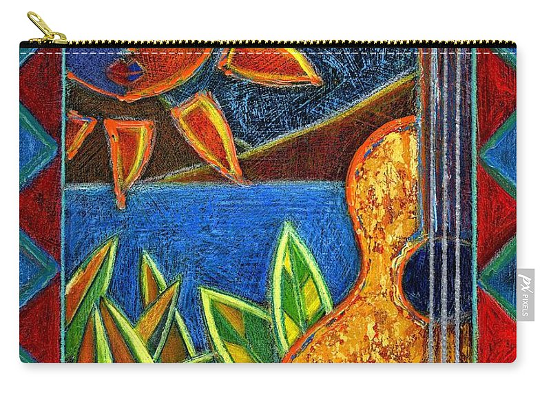 Guitar Carry-all Pouch featuring the painting Hispanic Heritage by Oscar Ortiz