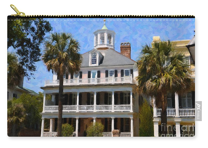 Historic Carry-all Pouch featuring the digital art Historic Battery Home by Dale Powell