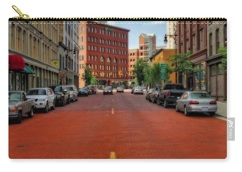 Historic Grand Rapids Michigan Carry-all Pouch featuring the photograph Historic Grand Rapids Michigan by Dan Sproul