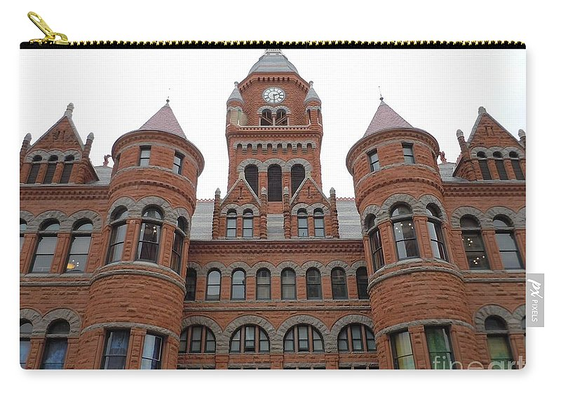 Old Red Courthouse Carry-all Pouch featuring the photograph Historic Old Red Courthouse Dallas #1 by Robert ONeil