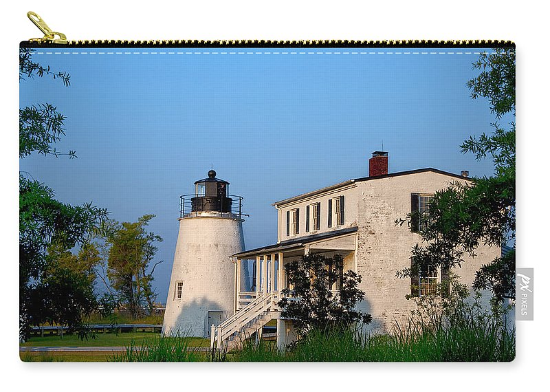 Historic Carry-all Pouch featuring the photograph Historic Piney Point Lighthouse by Bill Cannon