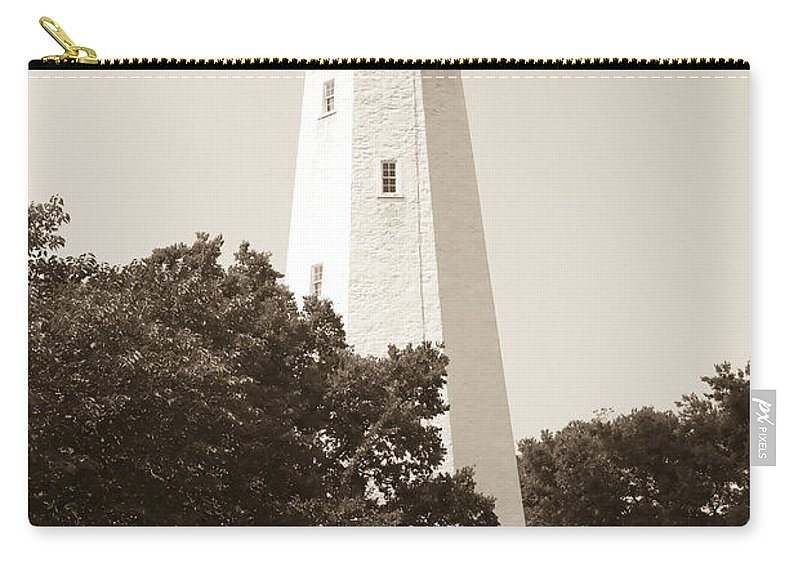Lighthouses Carry-all Pouch featuring the photograph Historic Sandy Hook Lighthouse by Anthony Sacco