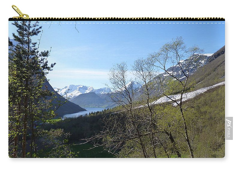Carry-all Pouch featuring the photograph Hjorundfjord From Slogan by Katerina Naumenko