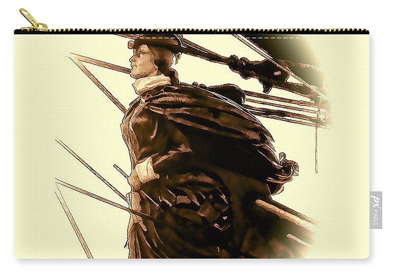 Julia Springer Carry-all Pouch featuring the photograph Hms Bounty - Lost At Sea by Julia Springer