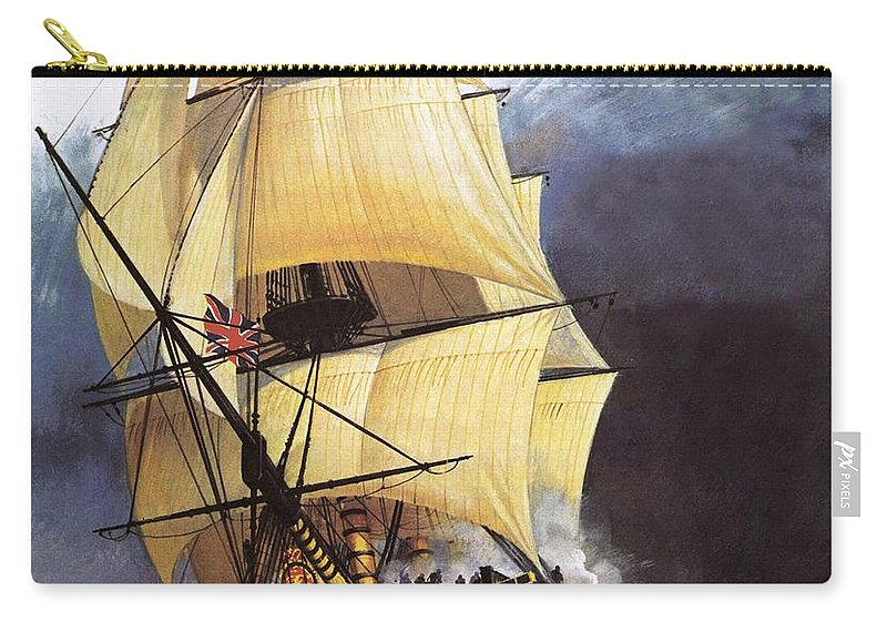 Hms Victory Carry-all Pouch featuring the painting Hms Victory by Andrew Howat