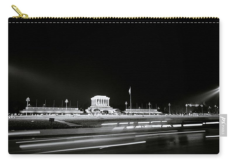 Asia Carry-all Pouch featuring the photograph Ho Chi Minh Mausoleum In Hanoi by Shaun Higson