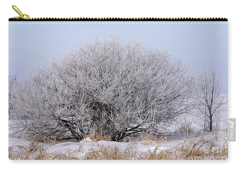 Frost Carry-all Pouch featuring the photograph Hoar Frost by Lori Tordsen