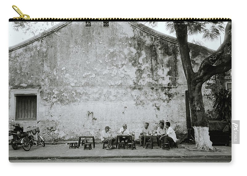 Hoi An Carry-all Pouch featuring the photograph Hoi An Meeting by Shaun Higson
