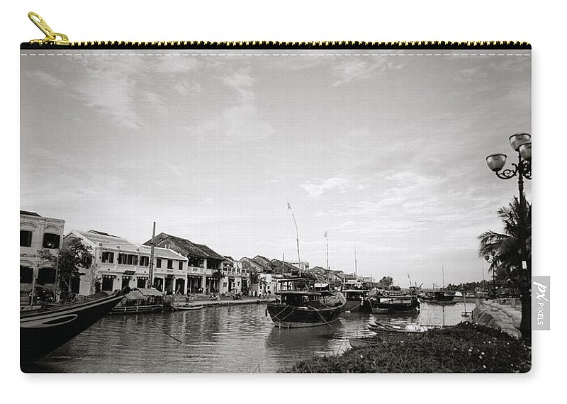 Hoi An Carry-all Pouch featuring the photograph Hoi An Riverfront by Shaun Higson