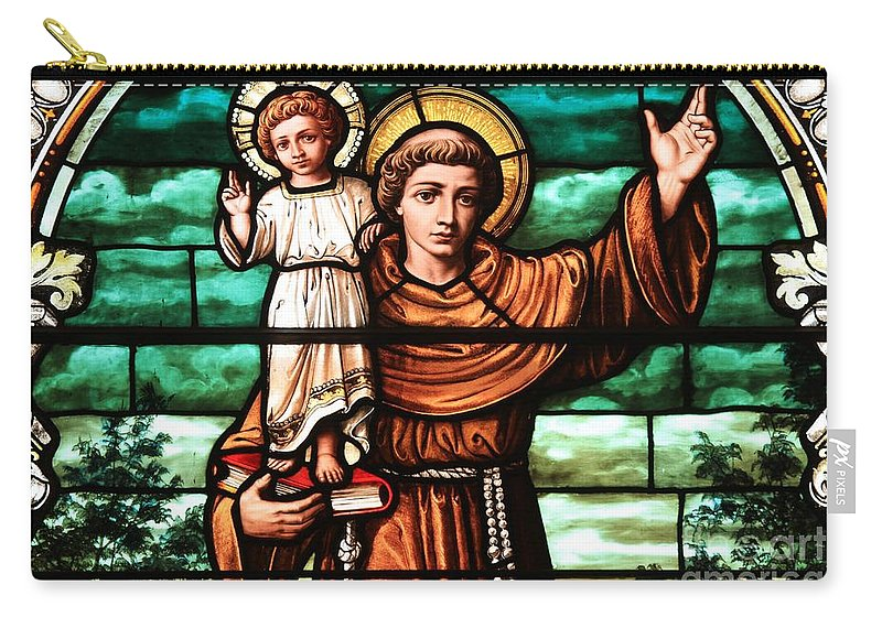 Christian Stained Glass Carry-all Pouch featuring the photograph Holding The Little One by Adam Jewell