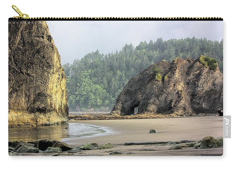 Washington Carry-all Pouch featuring the photograph Hole In The Wall by Jenny Hudson