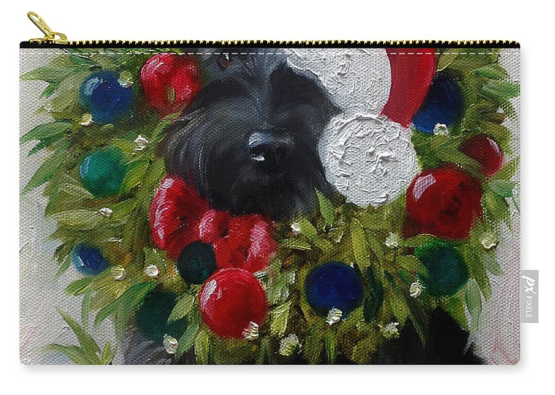 Holiday Carry-all Pouch featuring the painting Holiday by Mary Sparrow