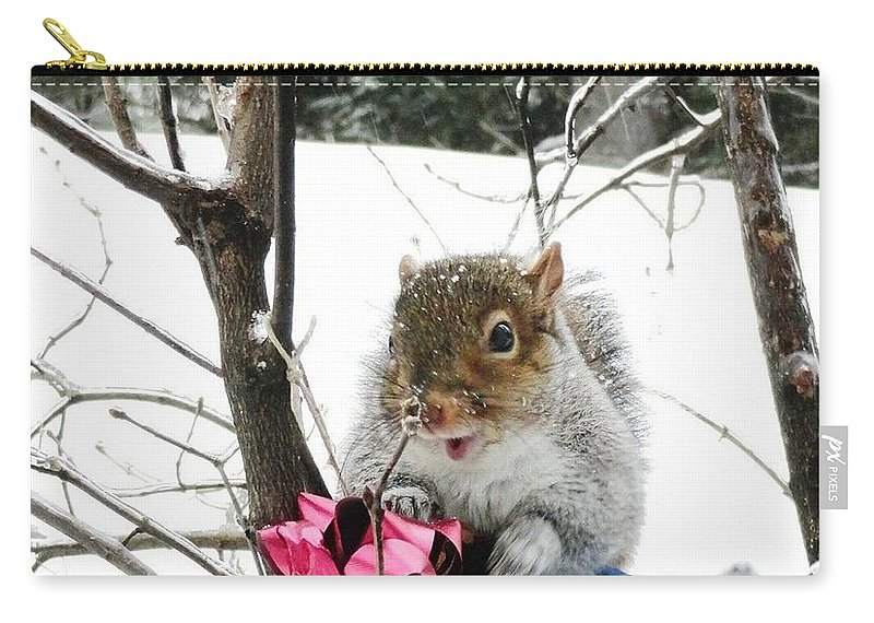 Holiday Joy Carry-all Pouch featuring the photograph Holiday Joy by Mike Breau