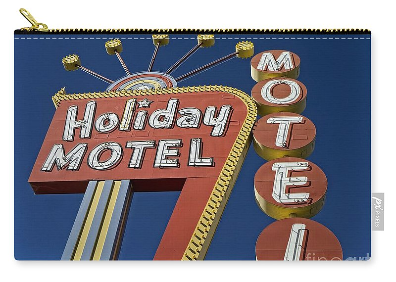 Vegas Carry-all Pouch featuring the photograph Holiday Motel Las Vegas by Edward Fielding