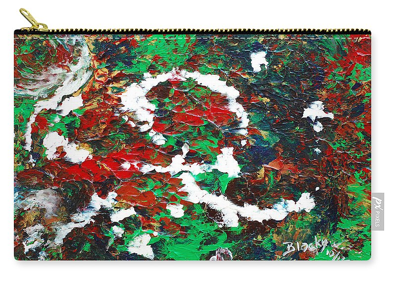 Bold Abstract Carry-all Pouch featuring the painting Holiday Spirit by Donna Blackhall