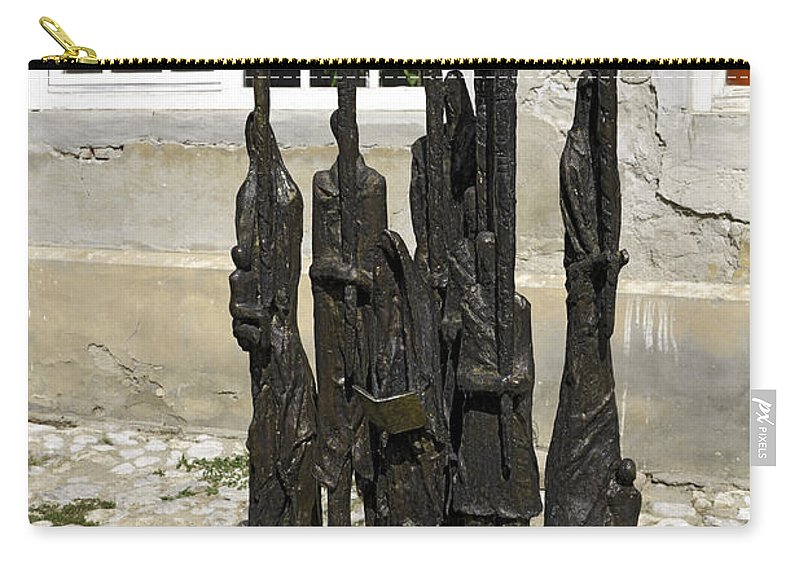Candleabra Memorial To Jewish Killed 1933-1945 Carry-all Pouch featuring the photograph Holocaust Memorial by Sally Weigand