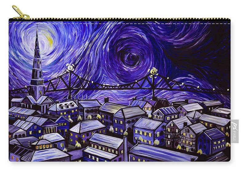 Nature Carry-all Pouch featuring the painting Holy City by James Christopher Hill